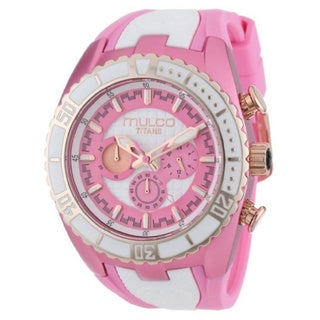 Mulco Women's Pink/ White Chronograph Swiss Watch