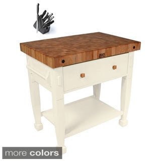 John Boos Jasmine Butcher Block with Henckels 13-Piece Knife Block Set