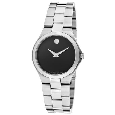 Movado Women's Two-tone Black Dial Stainless Steel Watch