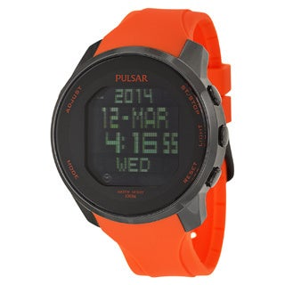 Pulsar PQ2013 Orange Wrist Watch