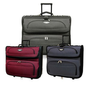 Travel Select by Traveler's Choice Amsterdam 23-Inch Rolling Garment Bag (Option: Navy)