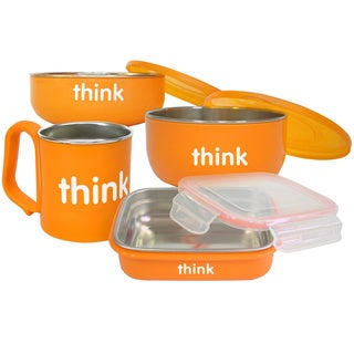 Thinkbaby Orange BPA Free Feeding Set