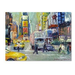 Richard Wallich 'Times Square'' Canvas Art