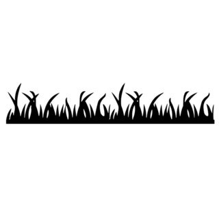 Grass Flora Glossy Black Vinyl Wall Decal