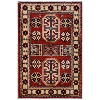 Herat Oriental Afghan Hand-knotted Kazak Wool Rug (2' x 3')