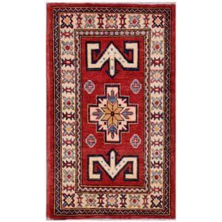 Herat Oriental Afghan Hand-knotted Kazak Wool Rug (1'9 x 3')
