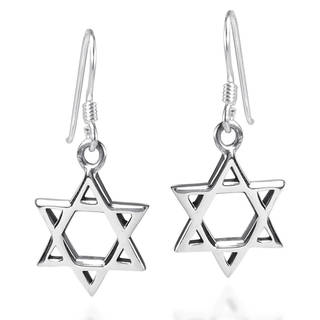 Handmade Mystical Star of David .925 Sterling Silver Earrings (Thailand)