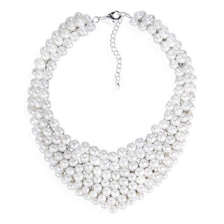 Circle Cascades Freshwater Pearl Collar Bridal Necklace (Thailand)