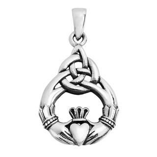 Claddagh Symbol Celtic Love .925 Sterling Silver Pendant (Thailand)