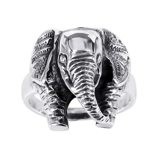 Handmade Majestic Elephant Head .925 Sterling Silver Ring (Thailand)