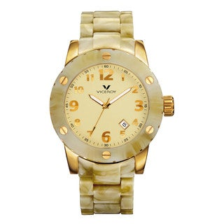 Viceroy Women's Beige Plastic Bracelet Date Watch
