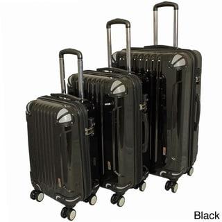 AMKA 3-piece Hardside Lightweight Expandable Spinner Luggage Set- TSA Lock