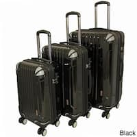 AMKA 3-piece Hardside Lightweight Expandable Spinner Luggage Set- TSA Lock