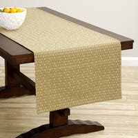 Corona Decor Extra-wide Gold Dot Italian Woven Table Runner