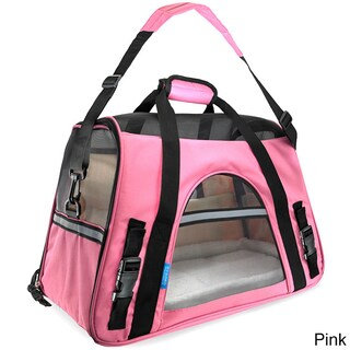 Oxgord Soft-Sided Cat/ Dog Comfort Travel Pet Carrier Bag (Small) (Option: Pink)
