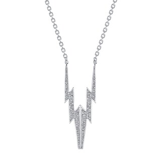 Women's Lightning Bolt CZ Pendant