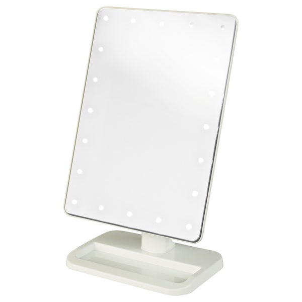 Jerdon 8 Inch Portable10x Led Lighted Makeup Mirror Free
