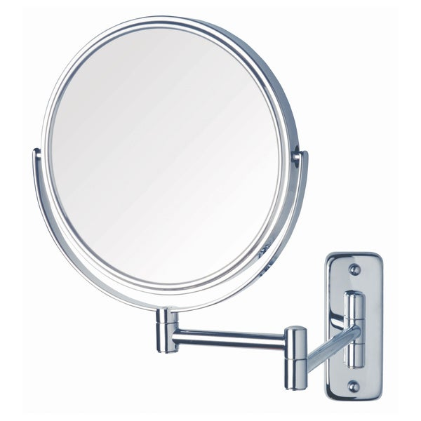 Jerdon 8-inch Two-Sided 8x Wall Mount Mirror in Chrome