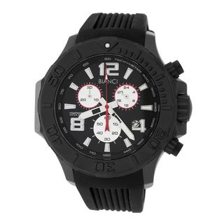Roberto Bianci Men's Sports Chronograph Black Plated Watch