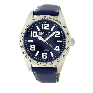 Roberto Bianci Men's Classic Blue Dial Stainless Steel Watch