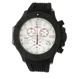 Roberto Bianci Men's Sports Black-plated White Dial Chronograph Watch