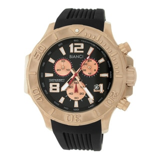 Roberto Bianci Men's Rose Gold-plated Black Dial Watch