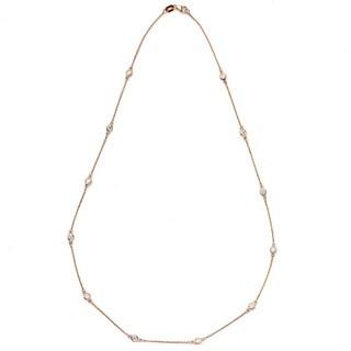 Neda Behnam 14k Rose Gold 3/4ct TDW Station Necklace