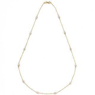 Diamonds For A Cure 14k Yellow Gold 1ct TDW Station Necklace (G-H, SI1-SI2)