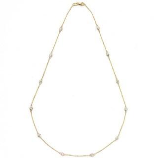 Neda Behnam 14k Yellow Gold 1ct TDW Station Necklace