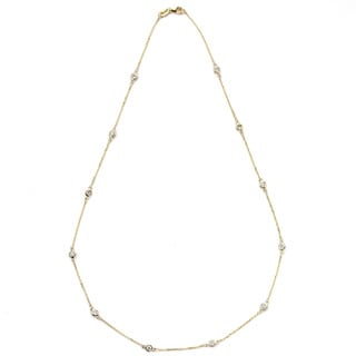 Diamonds For A Cure 14k Yellow Gold 3/4ct TDW Diamond Station Necklace (G-H, SI1-SI2)
