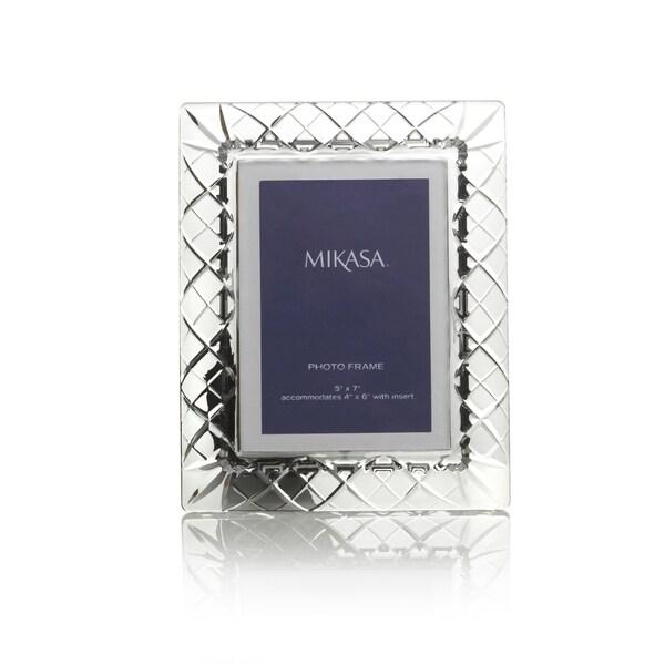 Mikasa Infinity Band 5x7 Inch Glass Photo Frame Free