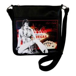 Women's Elvis Presley Signature Product Elvis Presley Crossbody Bag EL3811 Black