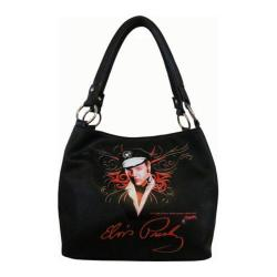 Women's Elvis Presley Signature Product Elvis Presley Handbag EV883 Black