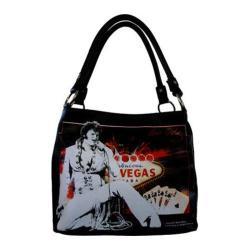 Women's Elvis Presley Signature Product Elvis Presley Shoulder Bag EL3813 Black