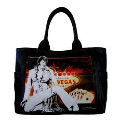 Women's Elvis Presley Signature Product Elvis Presley Tote Bag EL3812 Black
