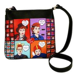 Women's I Love Lucy Signature Product I Love Lucy Messenger Bag LU1011 Black