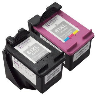 Sophia Global HP 61XL Ink Level Display Remanufactured Ink Cartridge Replacement (Pack of 2)