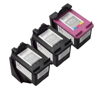 Sophia Global HP 61XL Ink Level Display Remanufactured Ink Cartridge Replacement (Pack of 3)