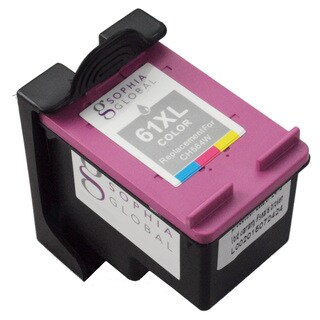 Sophia Global HP 61XL Ink Level Display Color Ink Cartridge Replacement (Remanufactured)
