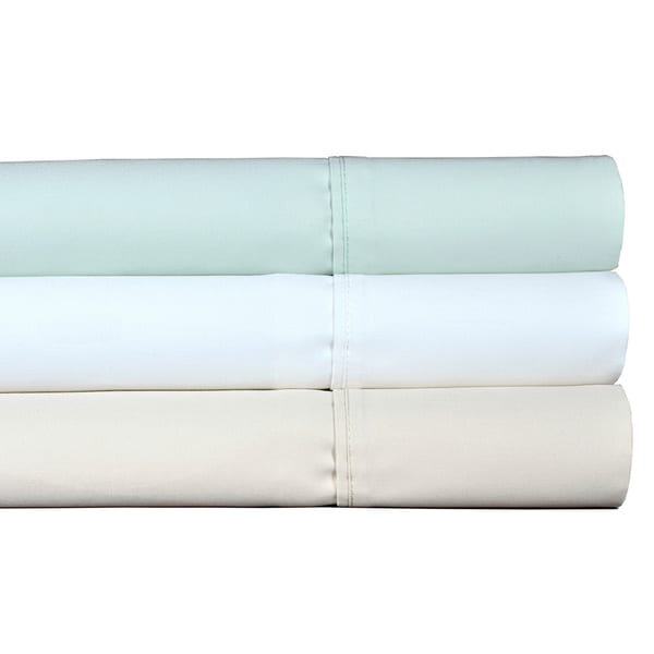 Shop Brielle Premium Cotton 1000 Thread Count Solid Colored Sateen ...