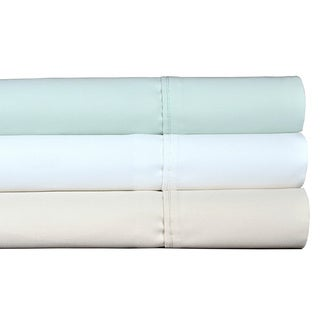 Brielle Premium Cotton 1000 Thread Count Solid Colored Sateen Sheets