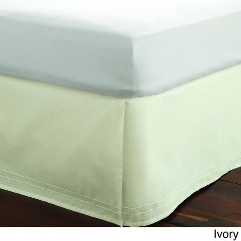 Laura Ashley Cotton Pleated 15-inch Drop Bedskirt in White or Ivory