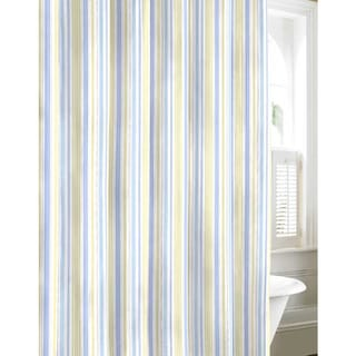 Shop Laura Ashley Sommerset Blue Cotton Shower Curtain
