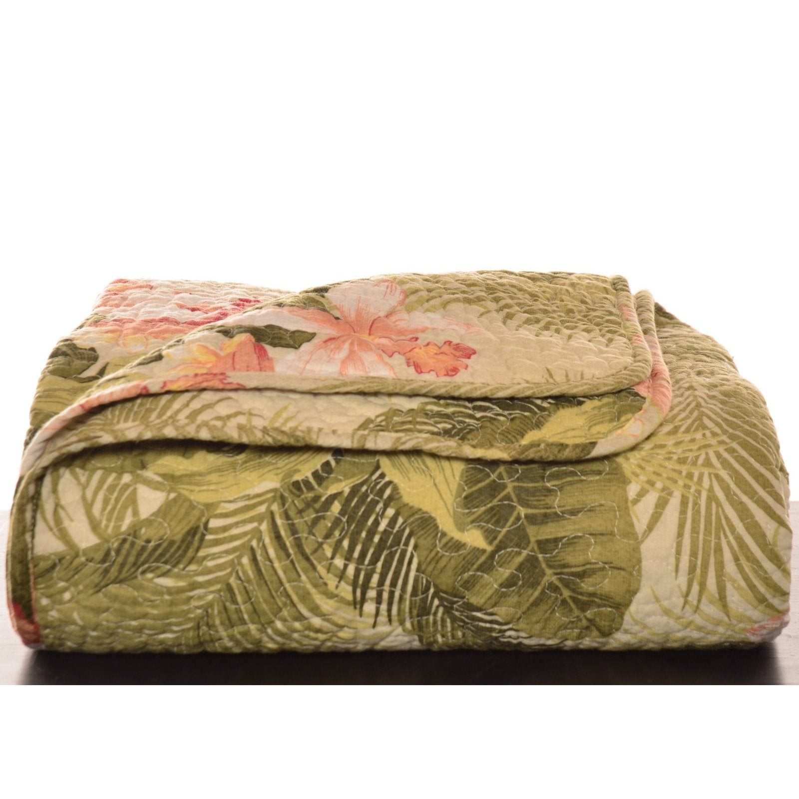 Tommy Bahama Tropical Orchid Quilted Throw (Tropical Orch...