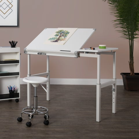 Studio Designs Graphix II White 24-inch x 36-inch Drafting Workstation Table
