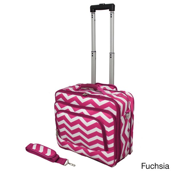 Shop World Traveler Chevron Collection Rolling Computer Bag Laptop ...