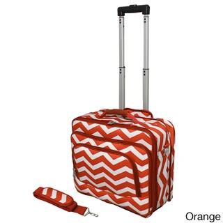 World Traveler Chevron Collection Rolling Computer Bag Laptop Business Case (Option: Orange White)