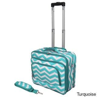 World Traveler Chevron Collection Rolling Computer Bag Laptop Business Case