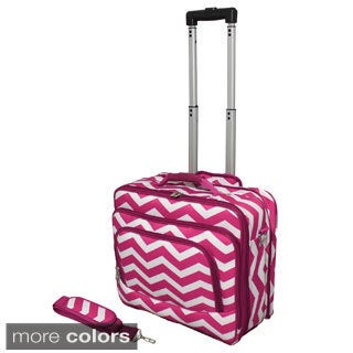 World Traveler Chevron Collection Rolling Computer Bag Laptop Business Case