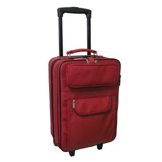 Rozanne Leather 22-inch Expandable Wheeled Luggage
